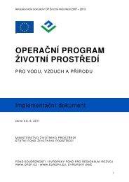 Implementační dokument - Operační program Životní prostředí