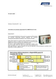 Interruzione della produzione e disponibilità pezzi di ... - Schlatter