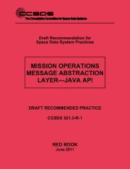 CCSDS 521.2-R-1, Mission Operations Message Abstraction Layer ...