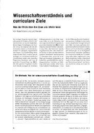 Wissenschaftsverständnis und curriculare Ziele