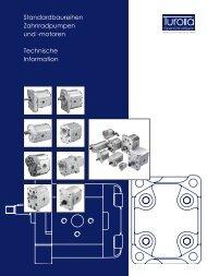 Standardbaureihen Zahnradpumpen und -motoren ... - Sauer-Danfoss