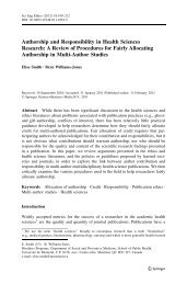 Authorship and Responsibility in Health Sciences Research: A ...