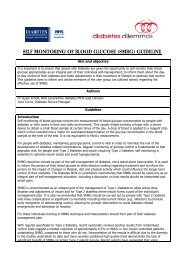 Self Monitoring Blood Glucose (SMBG) Guideline - NHS Lanarkshire