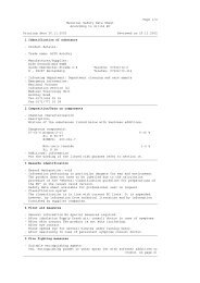 Page 1/4 Material Safety Data Sheet According to 91/155 EC ...