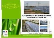 Contexte politique et réglementaire sur le photovoltaïque - Agence ...