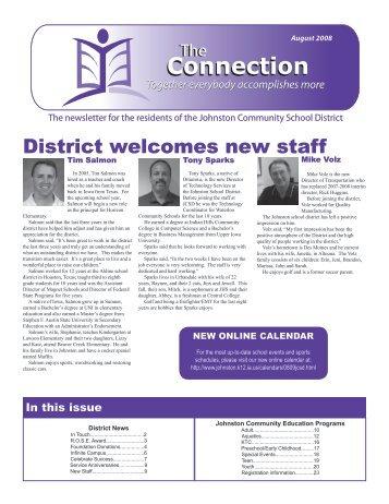 Connection - Johnston Community School District