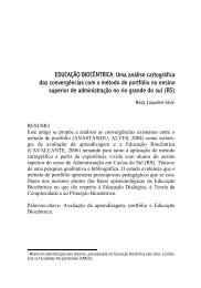 EDUCAÇÃO BIOCÊNTRICA: Uma análise cartográfica das ...