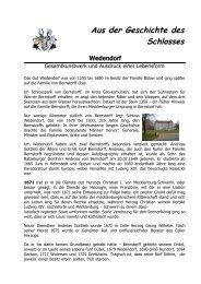 Aus der Geschichte des Schlosses - Hotel Schloss Wedendorf
