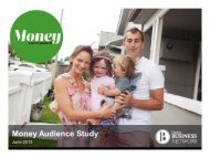 Money Audience Study - Fairfax Media Adcentre