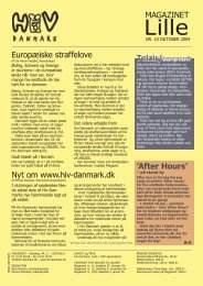 MAGAZINET Europæiske straffelove 'After Hours' Nyt ... - Hiv-Danmark