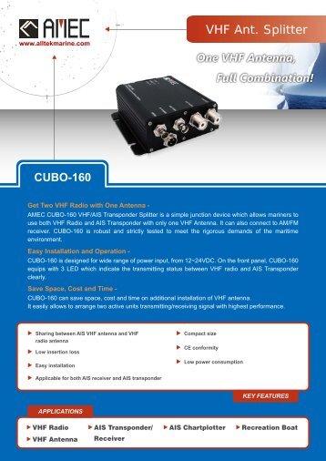 AMEC CUBO-160 product brochure - Milltech Marine