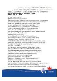 Participants List - Canada's Asia-Pacific Gateway & Corridor Initiative