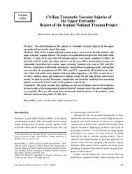 Civilian Traumatic Vascular Injuries of the Upper Extremity ... - Atcs.jp