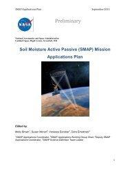 Applications Plan - SMAP - NASA