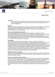 September 2007 Våre ruter • Widerøes direkterute mellom ... - SAS