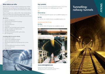 Tunnelling: railway tunnels - Atkins