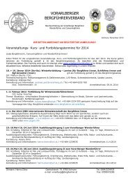 Fortbildungsprogramm download als .pdf - Österreichische Berg ...