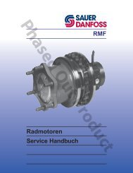 Radmotoren RMF Service Handbuch - Sauer-Danfoss