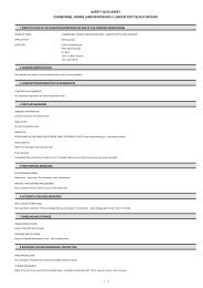 SAFETY DATA SHEET CHARBONNEL VERNIS LAMOUR ... - KEM