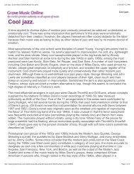 Cool jazz - SMHS Music Dept