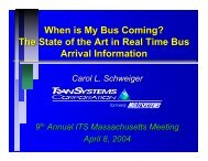 When is My Bus Coming? - ITS Massachusetts