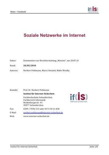 Soziale Netzwerke im Internet - Institut für Internet-Sicherheit