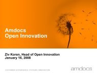 Amdocs Open Innovation Kickoff Event Master