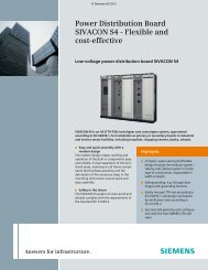 Power Distribution Board SIVACON S4 - Flexible and cost ... - Industry