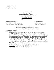 EDU 488 Student Teaching Seminar - Molloy College