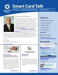 Download PDF Version of the January Smart Card Talk.