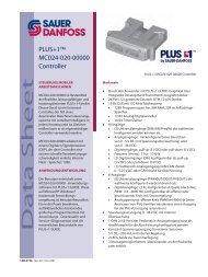 520L0750_PLUS+1 MC024-020-00000 DS_12 ... - Sauer-Danfoss