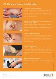 Günlük stoma bakımı ile ilgili ipuçları
