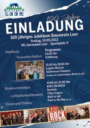 Programm - Bauverein Leer