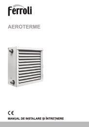 Aeroterme Ferroli cu agent termic - ProIdea