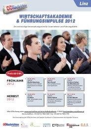WIRTSCHAFTSAKADEMIE & FÜHRUNGSIMPULSE 2012 Linz