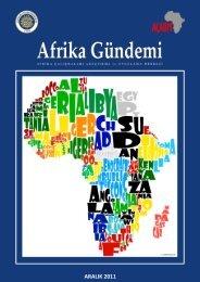 Afrika Gündemi ARALIK 2011 - Ankara Üniversitesi