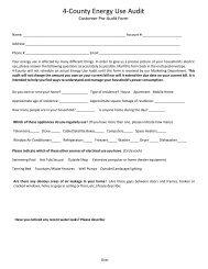 Pre-Audit Form - 4-County Electric Power Association