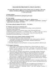 Prezydent Miasta Konina ogłasza otwarty konkurs ofert na realizację ...