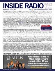 news INSIDE >> Wednesday, June 5, 2013