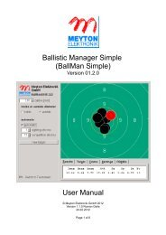 Ballistic Manager Simple (BallMan Simple) User Manual - Meyton.info