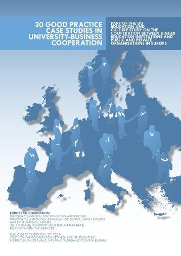 30 GOOD PRACtICE CASE StUDIES IN ... - UB Cooperation