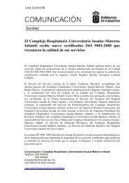 El Complejo Hospitalario Universitario Insular-Materno Infantil ...