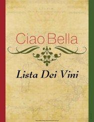 Wine Menu - Ciao Bella Ristorante
