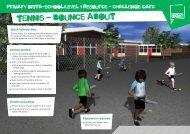 Tennis challenge card - School Games
