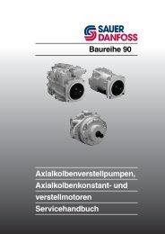 und verstellmotoren Servicehandbuch Baureihe 90 - Sauer-Danfoss