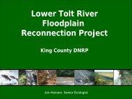 Lower Tolt River Floodplain Reconnection Project - Washington ...