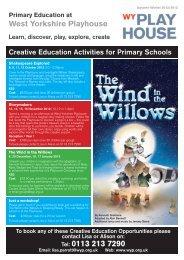 Creative Education Workshops Autumn Winter 2012 2013