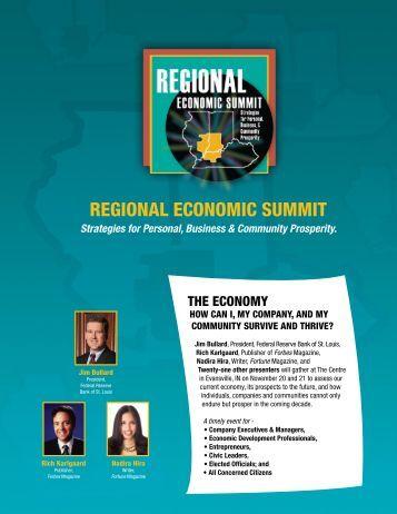 regioNal eCoNomiC summiT - Indiana Economic Development