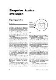 Skapelse kontra evolusjon - Skabelse.dk