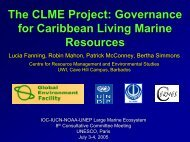 The CLME Project: Governance for Caribbean Living Marine ...
